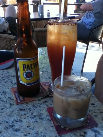 SOCIAL Cafe Lounge: Michelada and Kahluha and cream
