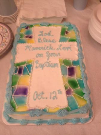 Cold Spring Bakery: My baby boys Baptism cake from CS Bakery. Made exactly how I requested & tasted wonderful!