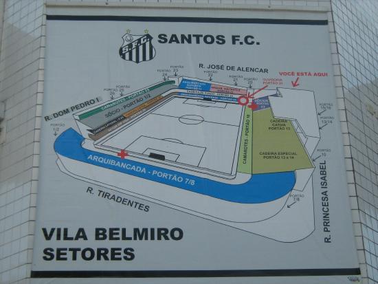 Diagrama do campo - Foto de Estadio do Santos Futebol Clube d29b5fa692e50
