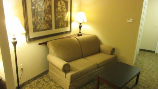 Holiday Inn Express Savannah Airport: Comfy couch for the raod weary traveler ;-)