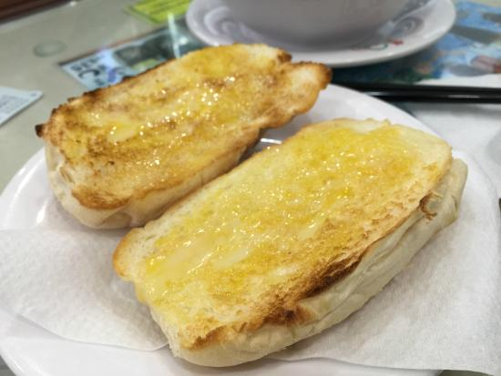 Toast with butter and condensed milk!  What a discovery!!!