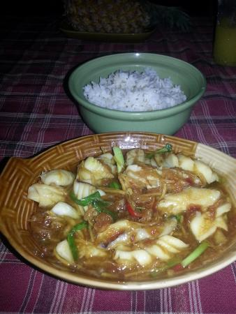 Riverside Restaurant: Stir fried squid and ginger