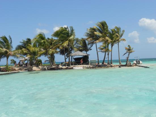 Ilet Caret: Vista da Ilha quando chegavamos de barco