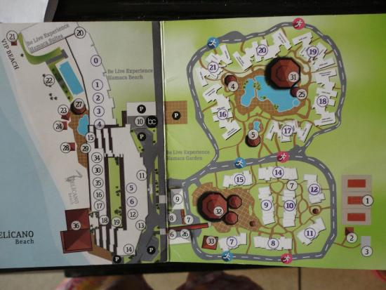 Map of Resort Picture of Be Live Experience Hamaca Garden Boca