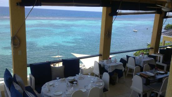Moxons Beach Club: View from one level of the dining area