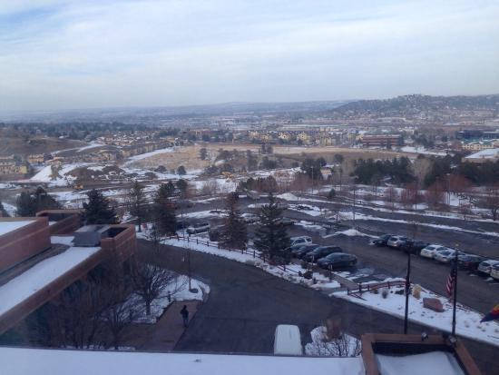 Colorado Springs Marriott: View from the sixth floor front side room