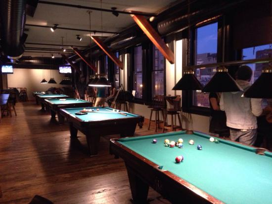 Phantom Canyon Brewing Co: Upstairs Billiards Room With Plenty Of Tables  And Space For Groups