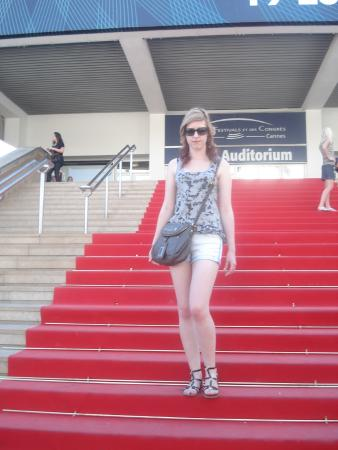 La Croisette : My daughter on the red carpet of the Palais de Festivals de Cannes