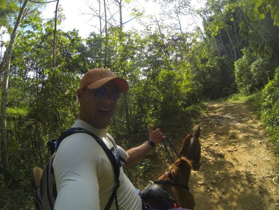 Kalon Surf - Surf Coaching Resort: On my horse to Nauyaca waterfalls, Domical Costa Rica
