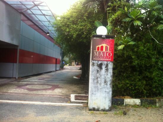Entrance to Maio Restaurant