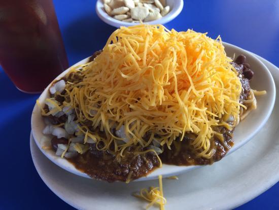 Skyline Chili Incoporated: Chili over spaghetti