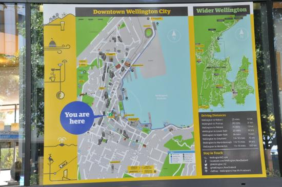 Large external Wellington map Picture of Wellington iSITE Visitor