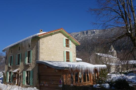 La Vercorelle : Notre maison en hiver