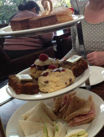 Fron Goch Garden Centre & Restaurant: Lovely cakes let down by floppy sandwiches with thin bread