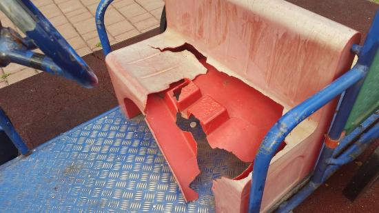 Summer Plaza Resort: Broken Toy Car in Childrens Play Area