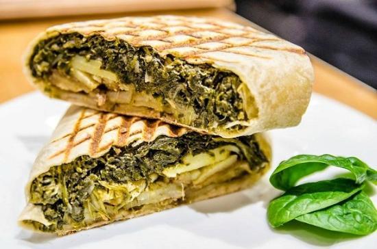 Egg-e-licious: Spinach and potato wrap