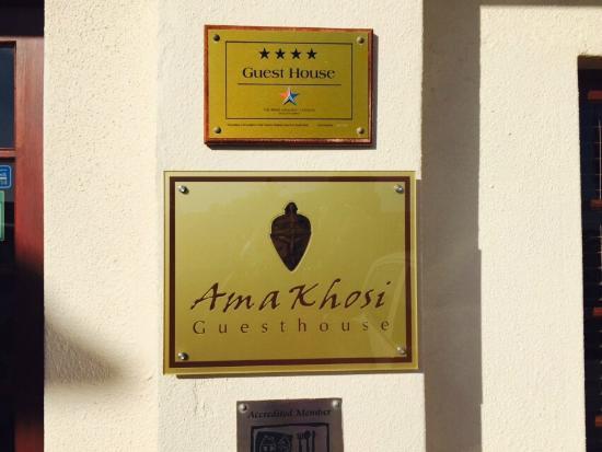 AmaKhosi Guesthouse: Entrance