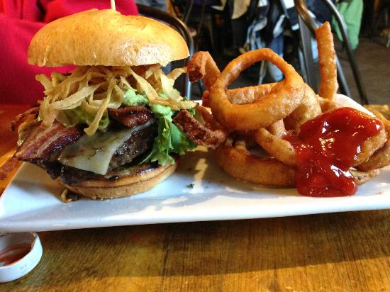 Kickapoo Tavern: The River Run burger.