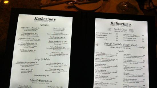 light up menu