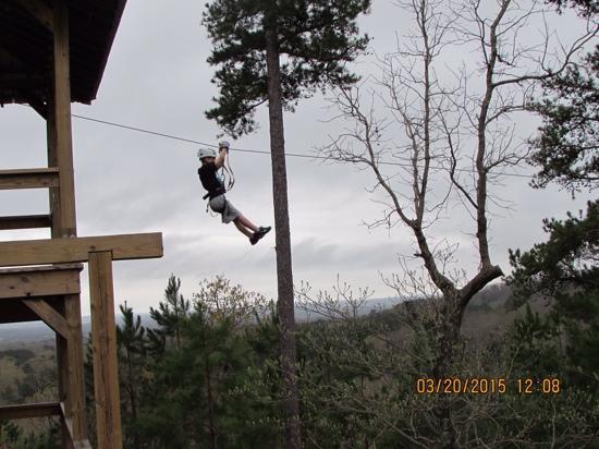 New York Texas Zipline Adventures: My grandson's first zip-line experience! He loved it!