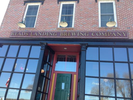 Reads Landing, MN: The Exterior.  Gorgeous windows that have bar seating inside.
