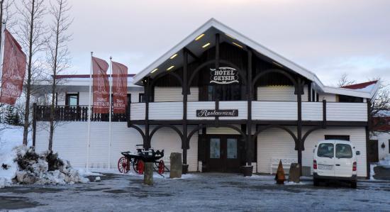 Hotel Geysir: reception et restaurant