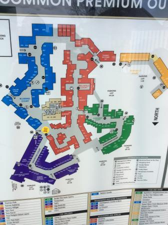 Woodbury Common Premium Outlets: Woodbury Common Map