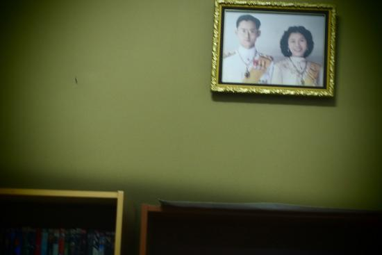 Cafe 1511: Our King on the wall