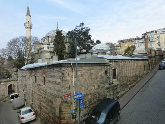 Ada Hotel Istanbul: view up the street from living room of apartment