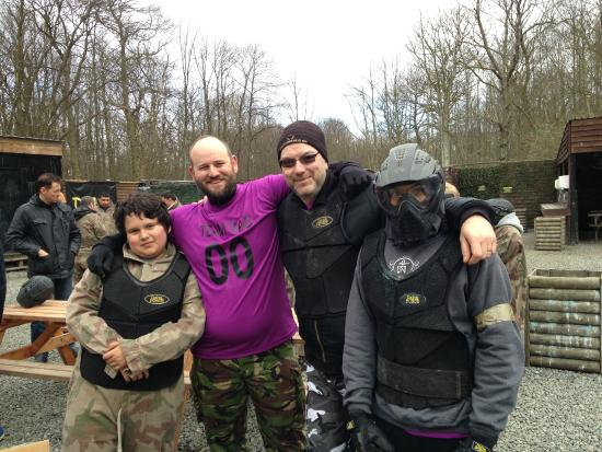 Delta Force Paintball Upminster: Team Dad at the start of the day