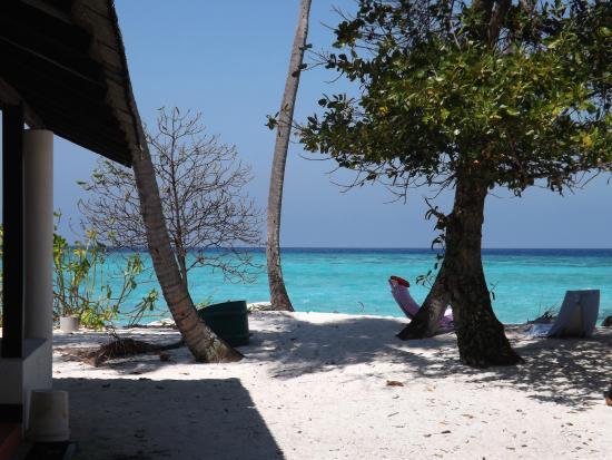 Asdu Sun Island: Spiaggia davanti alla camera