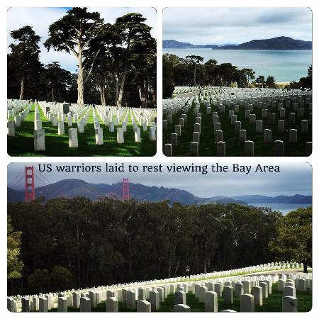 San Francisco National Cemetery: US Warrior laid to rest - viewing the Bay Area