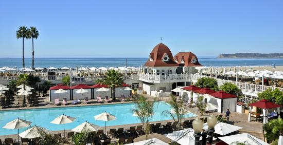 Pool Deck View To Ocean Hotel Del Coronado Ca