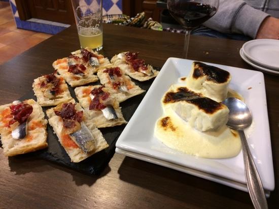 La Esquina de Colás: Sardinas marinadas y bacalao gratinado