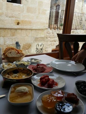 Cappadocia Castle Cave Hotel: Kahvaltı