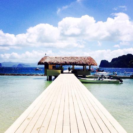 El Nido Resorts Miniloc Island: Une superbe vue depuis cet hôtel... J'ai adoré mon séjour. Personnel très accueillant, professio