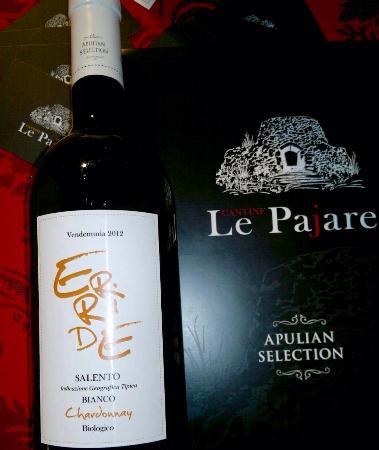 Crispiano, Włochy: ERRIDE bianco IGT Salento Chardonnay biologico barricato