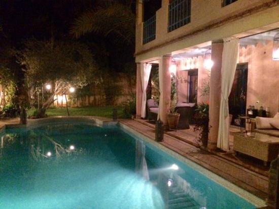 Tajmakane: Paradise at night - taken from our terrace