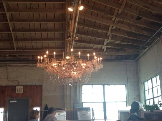 B & C Bbq: Incredible chandelier