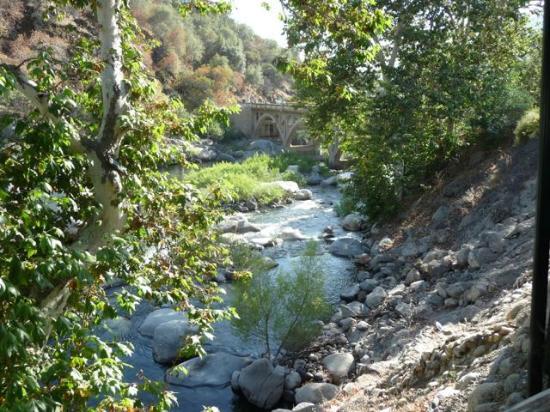 Three Rivers, CA: The low flowing Kaweah River on June 8, 2014