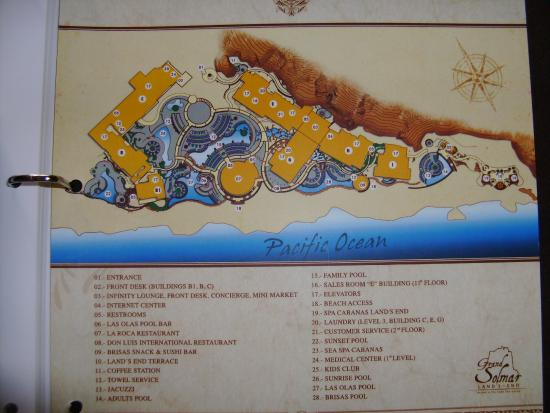 Grand Solmar Land's End Resort & Spa: Building/Pool map