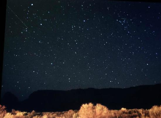 Amangiri: The night view form our patio. I truly have never seen more stars.