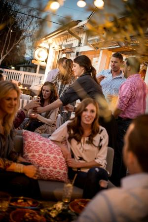 The Courtyard - casual lounge seating outdoors for dining ...
