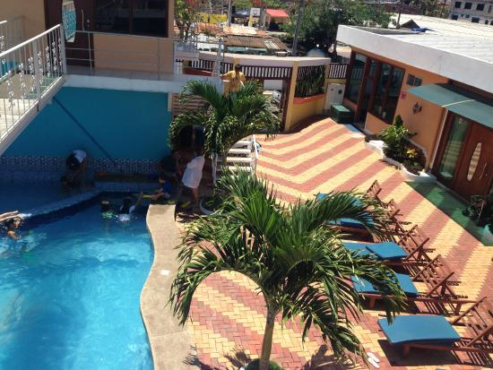 Blue Marlin Hotel: view from our room - pool area