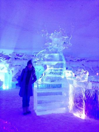 Incredible ice sculptures bild fr n kirkenes snowhotel for Kirkenes snow hotel gamme cabins