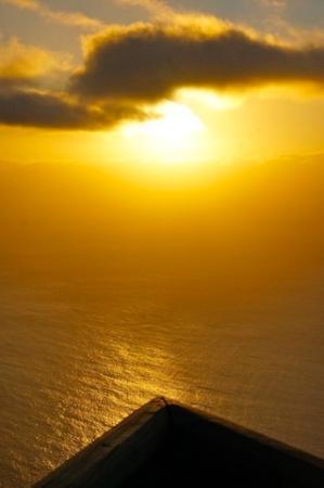Faja da Ovelha, โปรตุเกส: coucher de soleil à la pointe de la terrasse