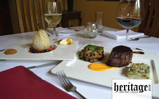 Heritage 3059 Restaurant: Some of our meals featuring local produce.