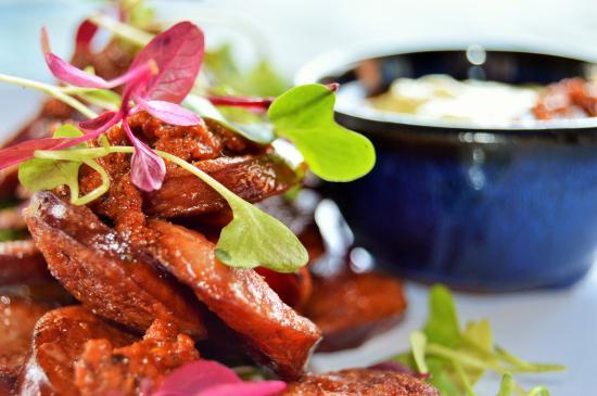 Social on Main: Char-Grilled Chorizo with Harissa & Aioli