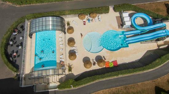 piscine vue du ciel picture of bon sejour la plage merville franceville plage tripadvisor. Black Bedroom Furniture Sets. Home Design Ideas