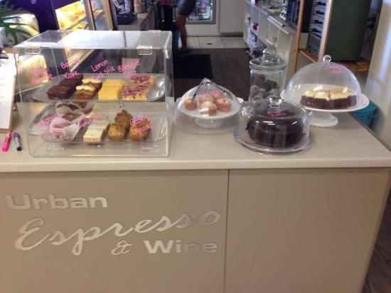 Urban Espresso and Wine: Lots of sweet treats! So yummy!